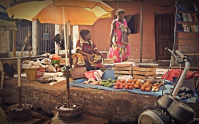 African market during the day