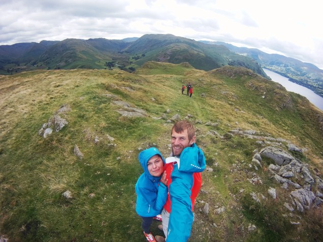 Selfie of a couple in the Lake District National Park, in the United Kingdom