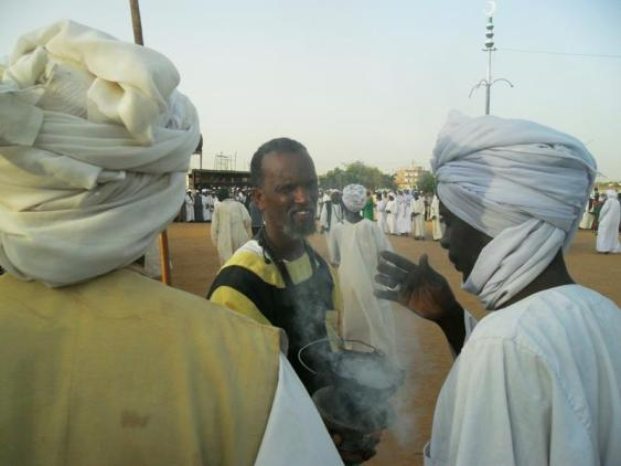 Dervish in Omdurman, Sudan doing magic