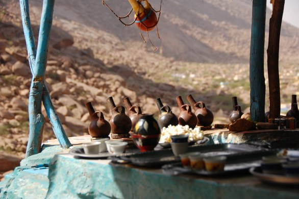 Cafe in the Sudanese mountains