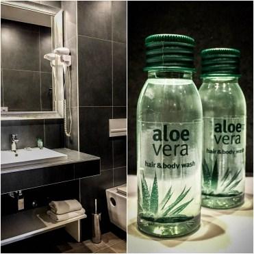 Aloe vera shampoo in a bathroom