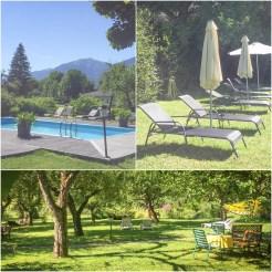 collage of a hotel garden in Austria