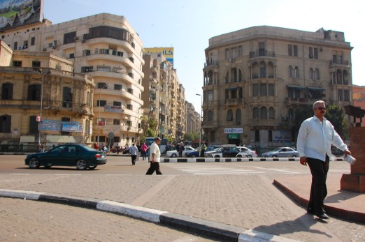 Harassment While Traveling: View of a square in Cairo,Egypt