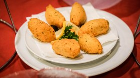 plate with Fried Pastry