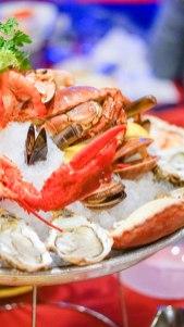 sea fruit dish in the restaurant Pedra Alta