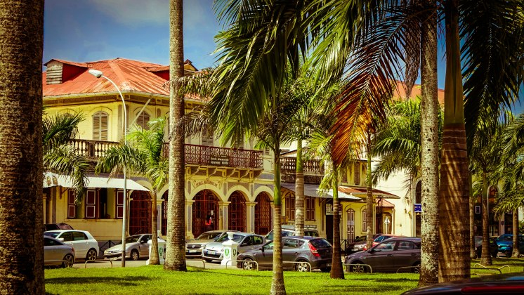 Main square in Cayenne, French Guiana