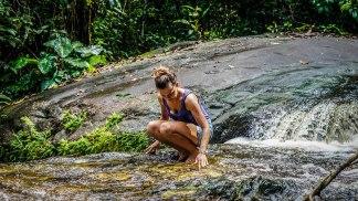 woman in a small stream