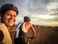 a man and a women in a tandem bicycle / Cycling through South America