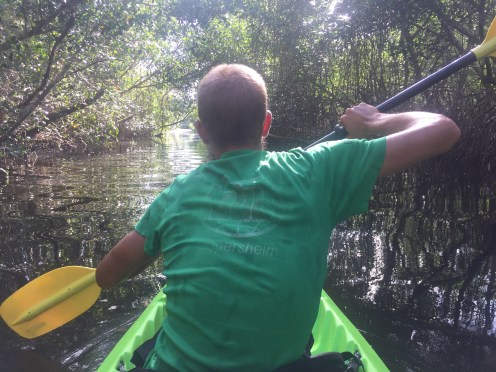 man Kayaking in Trinidad