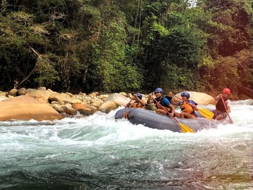 People doing rafting in Venezuela