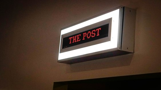 a sign which says the Post
