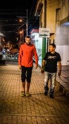 A men walking on the street