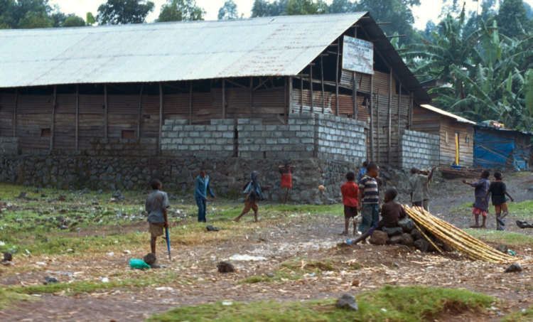 The village of Goma in the Democratic Republic of Congo