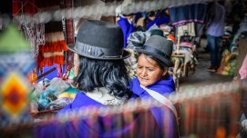 Two women in Silvia, Colombia