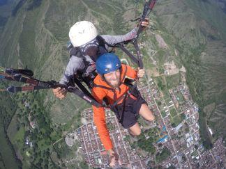 a paraglider in Roldanillo, Colombia