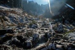 frozen mountains in Kyrgyzstan
