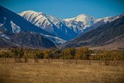 snow mountains in Kazakhstan / Hitchhiking journey