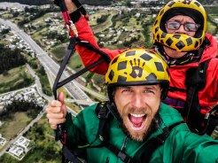two men on a paraglider