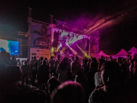 Tropical Beach Festival Landau at night
