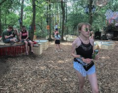 Woman on a music festival