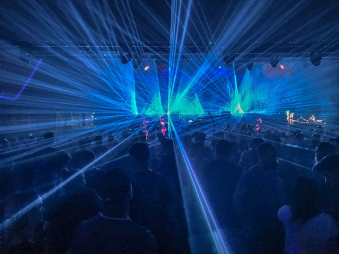 Laser show at a music festival