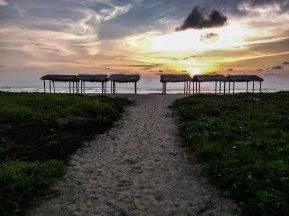 sunset at a sandy beach