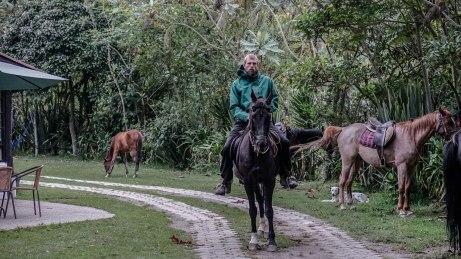 A man on a horse in Ecuador