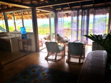 Living area at the Clave Verde Ecolodge