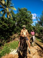 two man on horses in the Dominican Republic