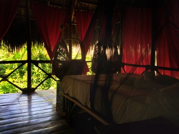 bedroom at the Dominican Treehouse Village