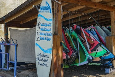 surfboards in a shed