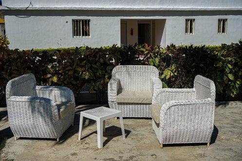 outdoor sittings at Bay City Condos