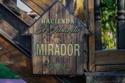 sign of Hacienda EL Jibarito