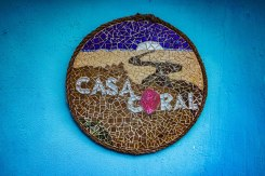 artisanal sign of Casa Coral