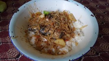 Mauritanian rice and fish.