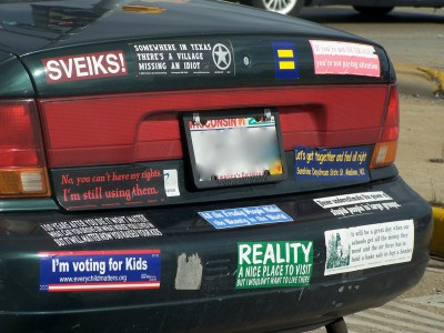 Pros and Cons of Putting Bumper Stickers On Your Car
