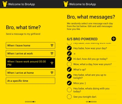 Automated Messages You Can Use BroApp to Send to Your Best Bro