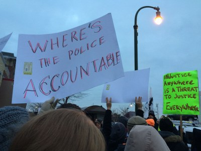 From the Picket Line of Minneapolis's Ferguson Protest