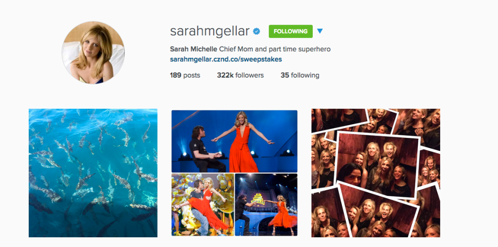 18 Things Sarah Michelle Gellar Would Be Doing on Instagram if I Were in Charge of Her Social Media/ Life