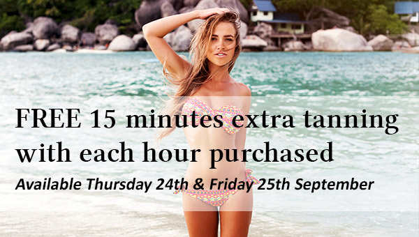 Two Days Only – Buy One Hour and Get 15 Minutes FREE