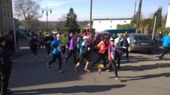 Through the town of Briey with 1200 other runners