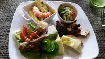 An assortment of salads to start with