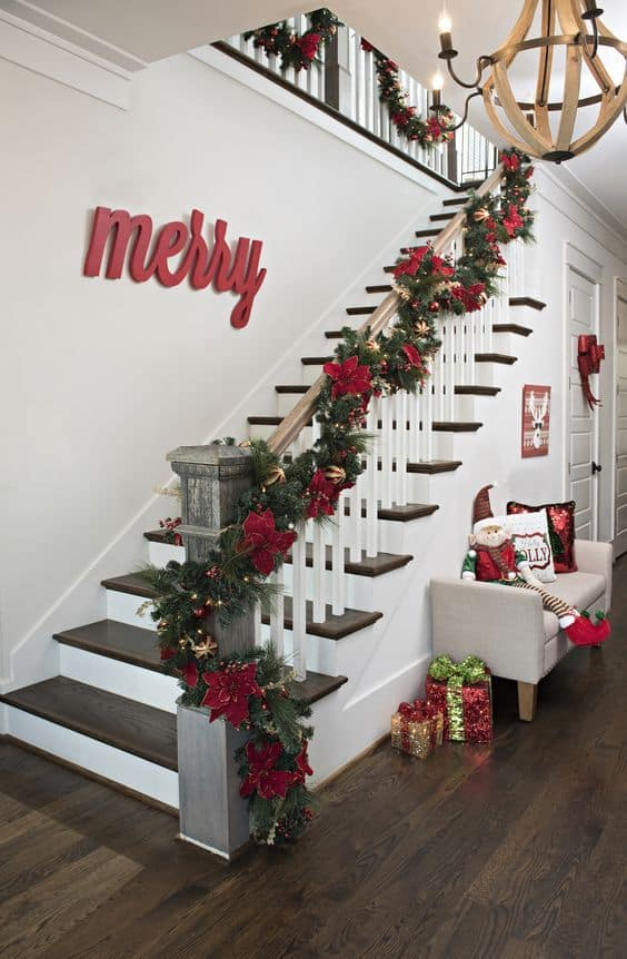 Hanging Christmas Stockings On Stairs 33 Ideas