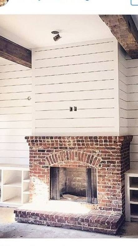 Fabulous 35 Gorgeous Natural Brick Fireplace Ideas Part 2 Interior Design Ideas Inesswwsoteloinfo