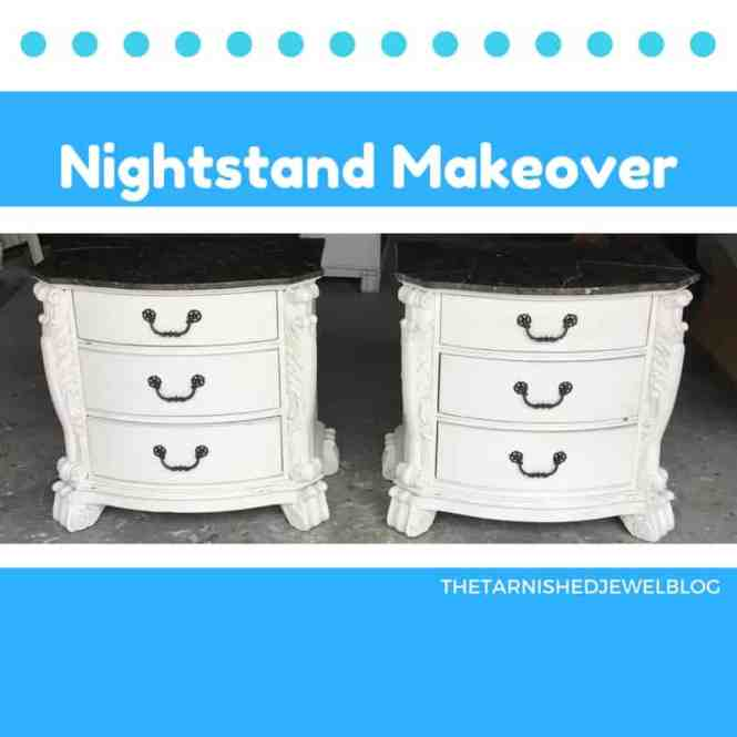 Give Nightstands An Instant Makeover With Paint White Bottom Black Top Oil