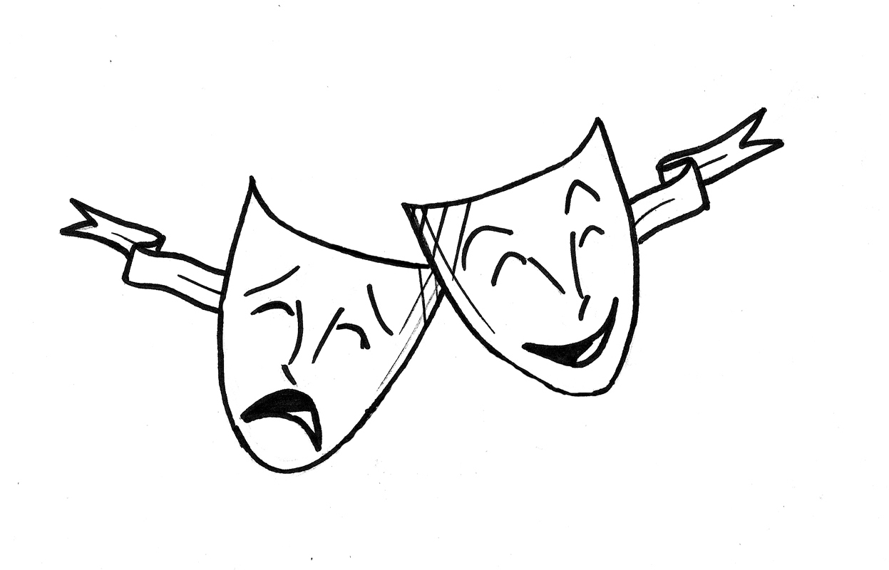 Drama Masks How To Draw