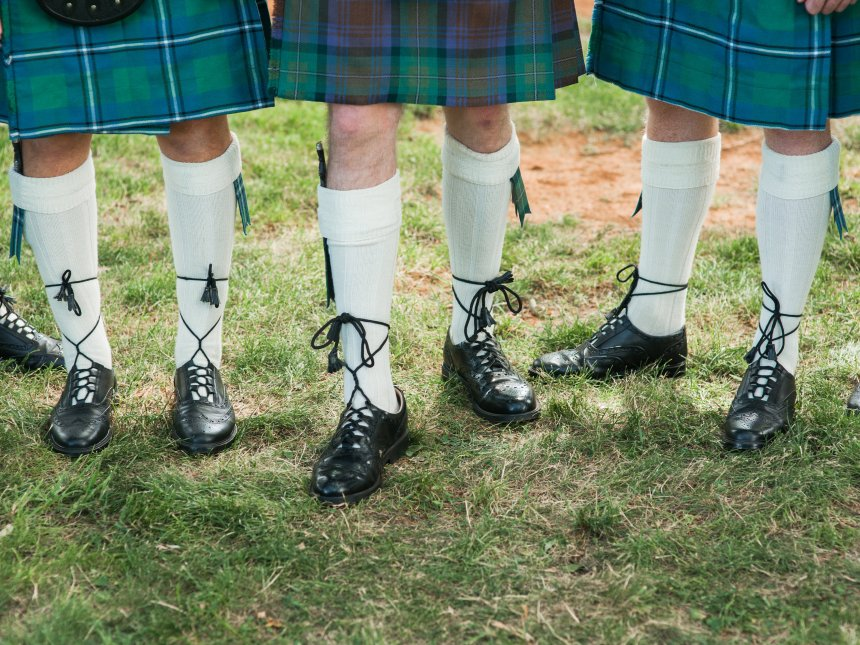 Ghillie brogues, socks, flashes, and kilts
