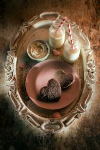 Orange Chocolate Shortbread Hearts with a Rum Dip Siucra
