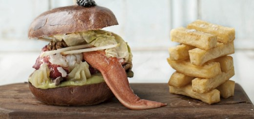 Lobster Burger & Avocado Mousse by Peter Clifford