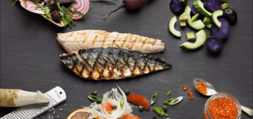 Grilled Mackerel with a Selection of Salads Recipe by Johan van der Merwe